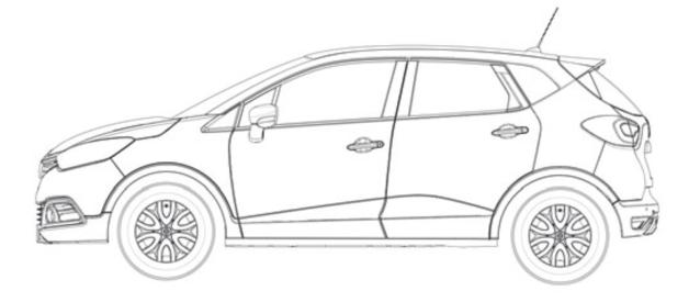 Afficher le sujet renault j87 captur - Dessin voiture profil ...